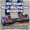 AlienWheels BatWings Matte Purple Balance Boards!