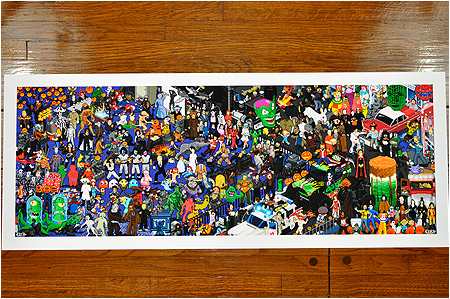 Limited edition 8-bit Halloween pixel print now available at Gallery 1988!