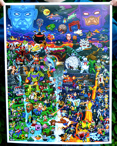 8-Bit Worlds Collide Pixel Posters now available on I-Mockery.com!