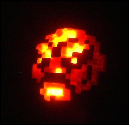 The Abobo jack-o-lantern! Happy Aboboween!