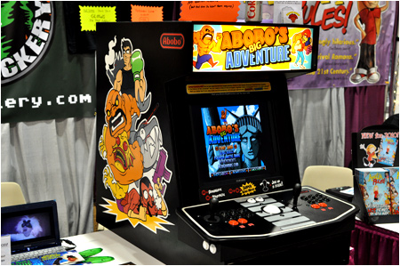 Can you handle the awesome power of Abobo? You'll have your chance to prove it at I-Mockery's Comic-Con booth!