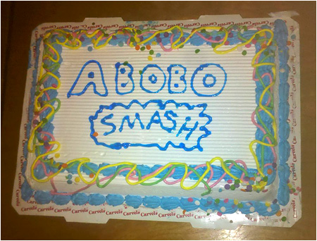 Happy Birthday, Abobo's Big Adventure! Abobo smash birthday cake!