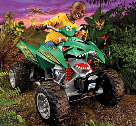 The Power Wheels A.T. Rex! Yes!!!