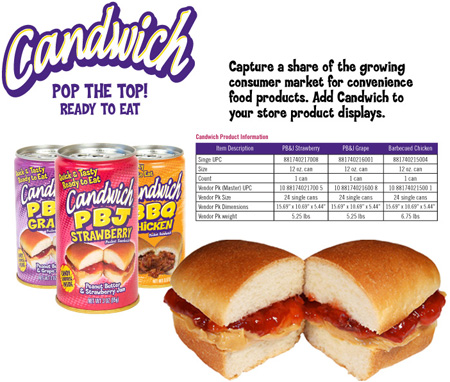 Candwich - The Sandwich in a Can!