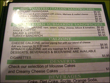 Care for a little Tobacco in your Calzone?
