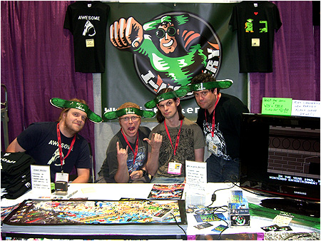 I-Mockery's table at the 2009 San Diego Comic-Con!