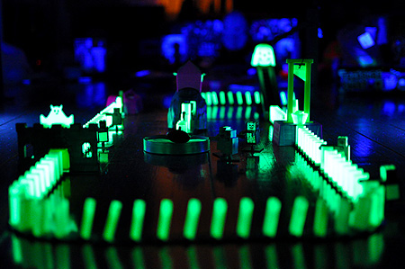 The Domino Rally Glow In The Dark Ghost Ride!