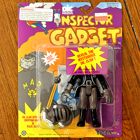 Inspector Gadget action figure! Reveal the face of the mysterious Dr. Claw!