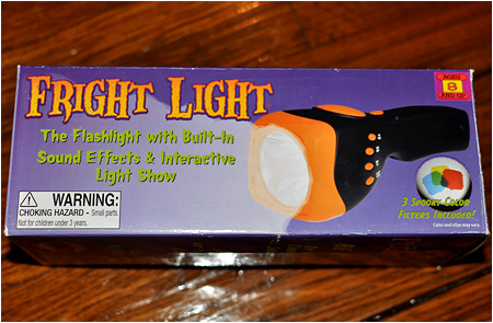 FINALLY! A flashlight with built-in horror sound effects.