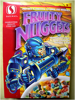 Fruity Nuggets! The ultimate generic cereal? Frew thinks so!