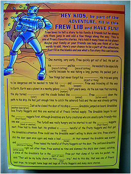 Forget Mad Libs... I am ALL about Frew Libs from this day forth!