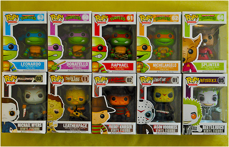 Funko POP! Vinyl Teenage Mutant Ninja Turtles and Horror Movie Monsters!