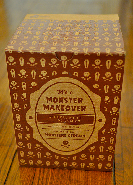 General Mills special 'Monster Makeover' Monster Cereals box!