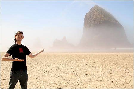 The Goonies Haystack Rock - one of my new favorite places on earth.