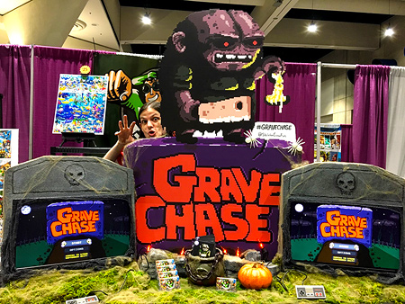 Grave Chase game booth design at the 2017 San Diego Comic-Con!