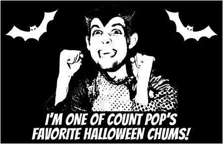 Count Pop stickers! Become one of Count Pop's Halloween Chums!
