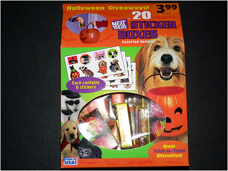 Halloween animal stickers... an alternative to candy! Sure, why not?