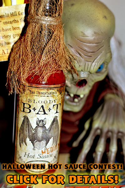 Be sure to enter our Halloween Hot Sauce contest by the end of this Sunday, September 22nd!