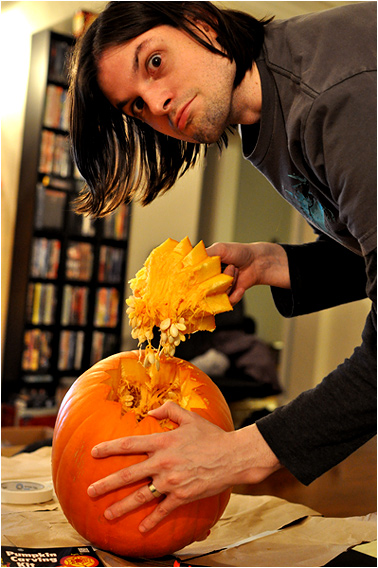 It takes GUTS to carve a pumpkin!