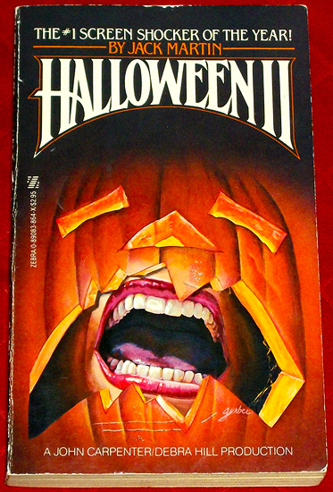 The Halloween II movie adaptation paperback novel!