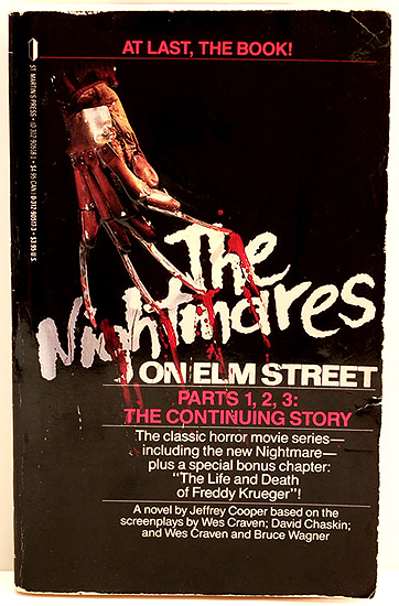 The Nightmares on Elm Street parts 1, 2, and 3 movie adaptation paperback novel!