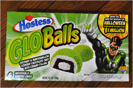 You too can eat Hal Jordan's green Glo Balls! Dine on Green Lantern's light!