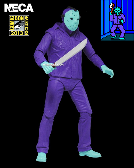 The Jason Voorhees Friday the 13th NES figure by NECA - a San Diego Comic-Con 2013 exclusive! SDCC