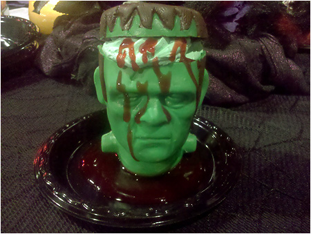 Frankenstein's Monster mousse dessert from Knott's Scary Farm!