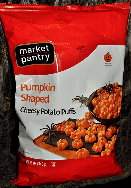 Market Pantry Pumpkin Shaped Cheesy Potato Puffs!