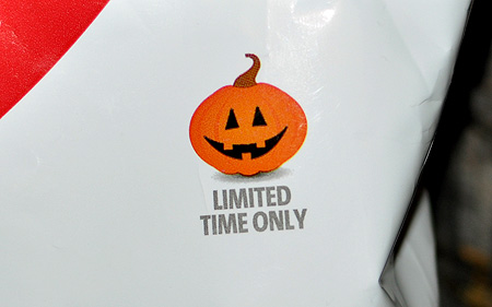 The 'Limited Time Only' Jack-O-Lantern sure is a happy fella, huh?