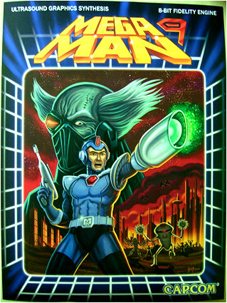 If you don't love this Mega Man 9 retro-style box art by Gerald de Jesus, you are truly dead inside