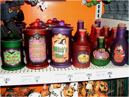 apothecary style witch brew potion bottles - Michaels Halloween