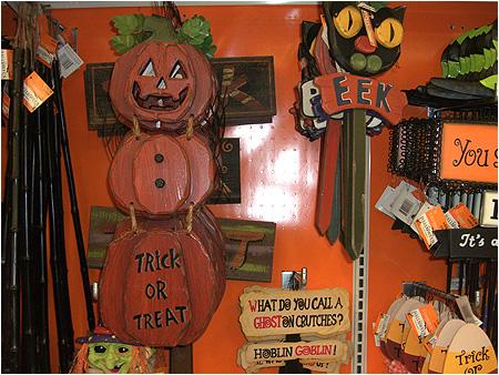 Vintage style Halloween displays