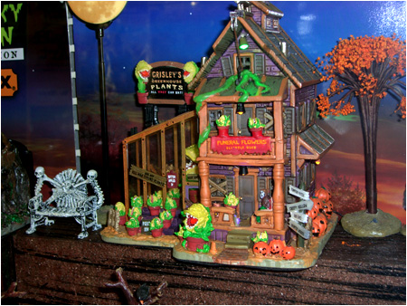 Grisley's Greenhouse from the 2010 Halloween Spooky Town Displays!
