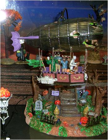 Eerie Airways House from the 2010 Halloween Spooky Town Displays!