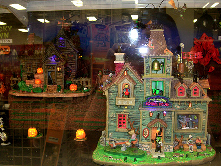 Little Monsters School House from the 2010 Halloween Spooky Town Displays!
