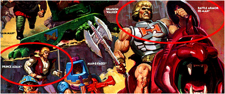 Undeniable proof that He-Man and Prince Adam are NOT the same person!
