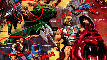Even He-Man and Battle Armor He-Man are different people!