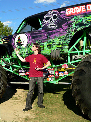 Grave Digger! The Big Bad Mean Halloween Machine!