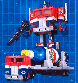 Optimus Prime Pepsi-powered convoy rolls into action to quench the thirst of all sentient beings!