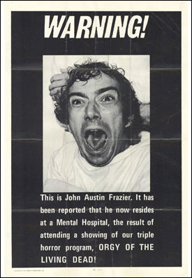 Orgy of the Dead - John Austin Frazier became a mental patient after watching it. True story...