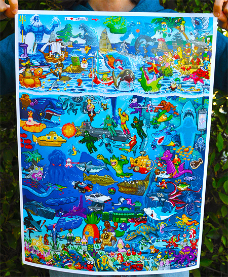 8-Bit Pixels Under The Sea posters now available on I-Mockery.com!