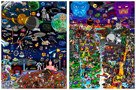 Click to order your 8-bit Worlds Collide and Pixels in Space prints!