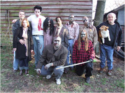 happy zombie family