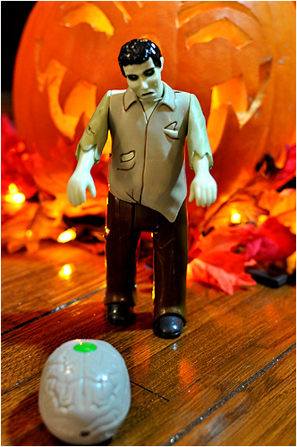 The Remote Control Zombie from Archie McPhee! He can't walk well, but he'll dry hump anything in his path!