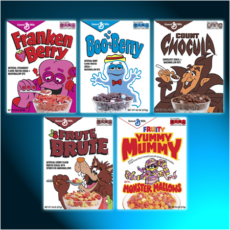 Retro Monster Cereal Boxes Available Exclusively at Target During the 2013 Halloween Season!