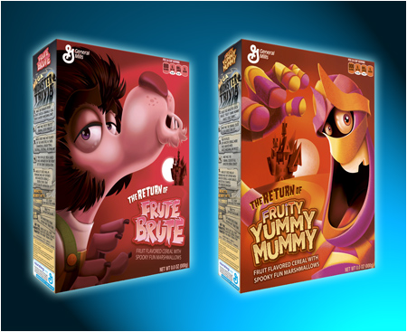 The Return of Fruit Brute and The Return of Fruity Yummy Mummy Monster Cereals! Coming Halloween 2013!
