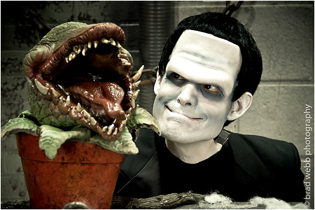 Audrey II thinks I make a pretty good Frankenstein's Monster!