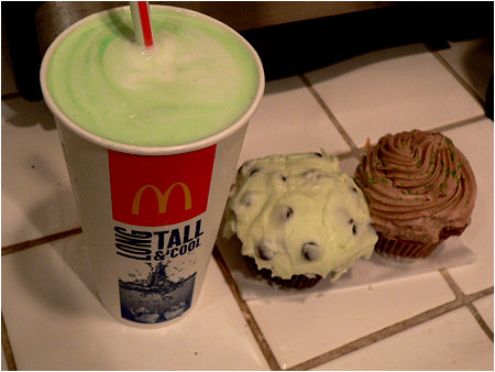 McDonald's Shamrock Shake and Guinness Cupcakes!