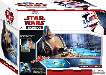 The Star Wars Dagobah Frog Habitat! Swim like a tadpole you will, yes!
